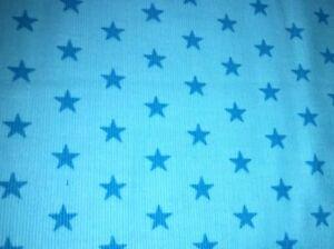 25 cm Feincord Blaue Sterne 🌟 Auf Türkis 14€/m