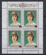 Aitutaki 1981 Minifoglio Matrimonio reale Mf 302 linguellato