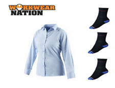 Maglie e camicie da donna blu classici del business