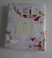 Pottery Barn Kids Santa's Christmas Sleigh Percale Sheet Set Twin Rudolph #59