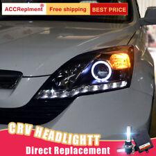 2Pcs For Honda CRV Headlights assembly Bi-xenon Lens Projector LED DRL 2007-2011