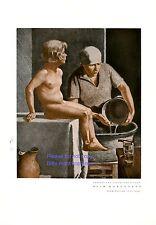 Morgenbad XL Druck 1932 Ivo Salinger Mutter Kind Sohn Tochter Badewanne Nackedei