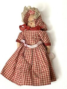 "7"" Vintage Arranbee Mary Had A Little Lamb Storybook Doll Composition Frozen Leg"
