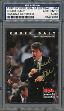1992 Skybox USA #94 Chuck Daly PSA/DNA Certified Authentic Auto Autograph *2861