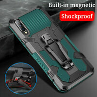 For Samsung A10 A20 A30 A50 Shockproof Rugged Stand Armor Belt Clip Case Cover