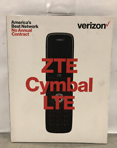 *NEW* VERIZON Prepaid ZTE Cymbal LTE Flip Phone, 4G LTE SIM,  Factory Sealed Box