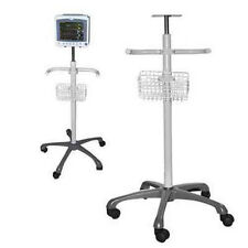 Rolling Wheel Stand Trolley Mobile Cart For Vital Signs Patient Monitor CMS8000