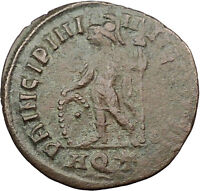 Crispus w spear & shield Constantine the Great son Ancient Roman Coin i31560