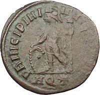 Crispus w spear & shield Constantine the Great son Ancient Roman Coin i31560