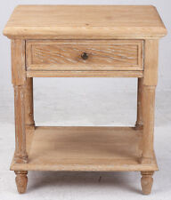 French Provincial Oak Night Stand Bedside Table with Drawer