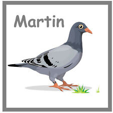 PIGEON - PERSONALISED SOUVENIR NOVELTY BIG SQUARE FRIDGE MAGNET / GIFTS / NAME