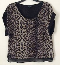 Topshop Animal Print Classic Other Tops for Women