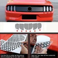 Accessories Rear Tail light Lamp honeycomb Stickers for Ford Mustang 2015-2017