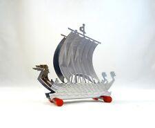 RARE ART DECO ORIGINAL LETTER STAND HOLDER CHROME & BAKELITE VIKING SHIP OFFICE