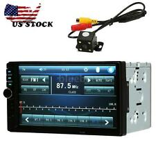 "2Din 7"" HD Bluetooth Car MP5 Player Stereo Radio USB/TF Aux Rearview Camera US"