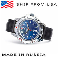 Mens Mechanical Wristwatch Vostok Komandirskie 431289 Russian Military Watch New