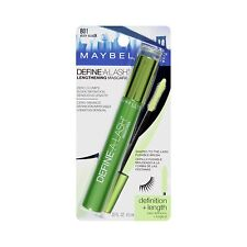 Maybelline Define-A-Lash Lengthening Mascara Washable #801 Very Black New