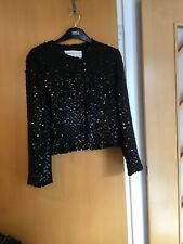 Graziella Ronchi Ladies Black Sequined Short Jacket Beatiuful For Cruis Size 42
