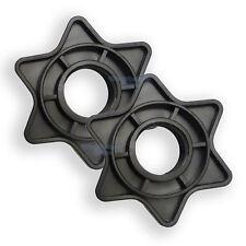"""Black Pair Vinyl Spinlock Collars For 1"""" Standard Barbells Dumbbell Gym"""