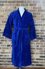 Stafford Mens Terry Terrycloth Bath Robe Royal Blue Cotton One Size Fits All