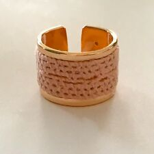 Rose Gold Plated Ring with Vintage Rose Lace Adjustable