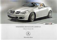 Prospekt / Brochure Mercedes SLK Edition 10 11/2006