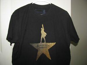 Hamilton An American Musical Adult T-Shirt Broadway Show T Shirt Mens Size Large
