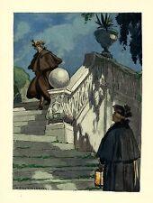 Auguste LEROUX . Casanova . le rendez-vous au pied de l'escalier ! SUPERBE !!