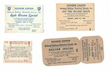 4 National Railway Historical Society Souvenir Coupons 1950-60 Penn Railroad
