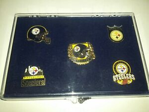PITTSBURGH STEELERS FIVE PIN SET NEW