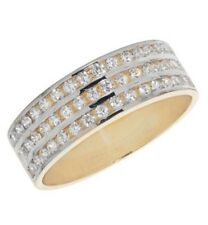 9ct Yellow Gold Solid Ladies Cubic Zirconia Ring NEW ALL SIZES AVAILABLE