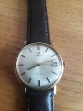 Vintage Omega Geneve Automatic 1970s 9k Solid Gold Mens Watch