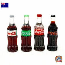 Mini Coke Bottles Set of 4 - Miniature Dollhouse Accessories 1:12