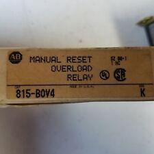 Allen Bradley 815-B0V4 Overload Relay