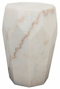 """18"""" Set of Two Side Table Night Stand White Stone  9000"""