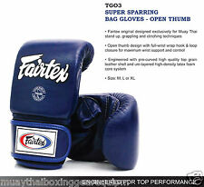 Fairtex SUPER SPARRING BAG GLOVES - OPEN THUMB 7 DAYS MADE TO ORDER