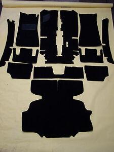 REPLACEMENT CARPET KIT FOR 1971-1974 DATSUN 240Z, 260Z  BLACK CUT PILE