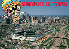 Detroit Tiger Stadium, MI, Mickey Minnie Hot Air Balloon - 5 x 7 Disney Postcard