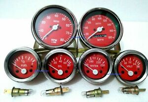 Smiths Replica Kit- Elec Temp + Oil + Fuel + Amp Gauge+Speedometer +Tacho 85 mm