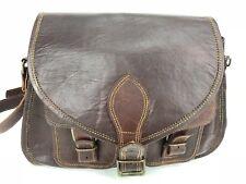 VINTAGE Great Seal Of Oklahoma 1907 Leather Large Satchel Crossbody Bag Brown