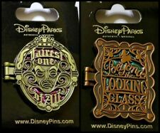 Disney Parks 2 MIRRORS Pin Lot FAIREST ONE of ALL + BEYOND the LOOKING GLASS