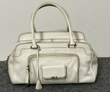 T'ODS hand/ shoulder Large bag white leather  with logo GC 13.1/2''-9''-8''