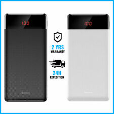 Baseus 10.000mAh External Power Bank Chargeur Battery USB Charger Portable