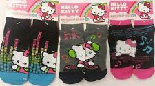 Hello Kitty Match Up Socks (3 Pairs) Girls 6-8 1/2, New