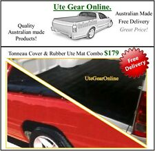 Holden Commodore VN VP VR VS Ute Tonneau Cover & Rubber Ute Mat Combo