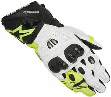 Alpinestars GP PRO R2 Fluo Yellow Glove Leather Motorcycle Race Gloves 30% OFF