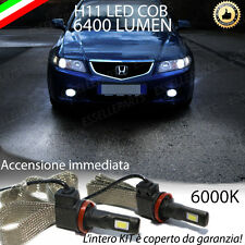 COPPIA LAMPADE H11 LED CANBUS FENDINEBBIA HONDA ACCORD VII 6400L 6000K NOERROR