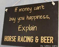 Horse Racing and Beer Sign ~ Race Nights Prop Cup Derby Silks Memorabilia Hats