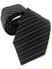 PAUL SMITH NOIR Cravate à rayure 9CM Lame Fait en Italie argenté & doré fine
