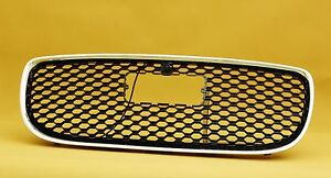 Grill Jaguar XE 2015-2019 (for rectangle badge) with camera, black+chrome